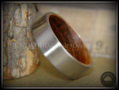 Bentwood Zebrawood Core Ring and Surgical Grade Hypo-Allergenic Stainless Steel Exterior - Bentwood Jewelry Designs - Custom Handcrafted Bentwood Wood Rings  - 6