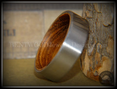 Bentwood Zebrawood Core Ring and Surgical Grade Hypo-Allergenic Stainless Steel Exterior - Bentwood Jewelry Designs - Custom Handcrafted Bentwood Wood Rings  - 3