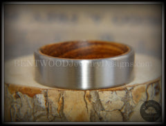 Bentwood Zebrawood Core Ring and Surgical Grade Hypo-Allergenic Stainless Steel Exterior - Bentwood Jewelry Designs - Custom Handcrafted Bentwood Wood Rings  - 4