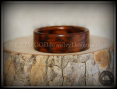 Bentwood Ring - Snakewood Classic Wood Ring   ------------  ***  Limited Supply  *** - Bentwood Jewelry Designs - Custom Handcrafted Bentwood Wood Rings  - 6