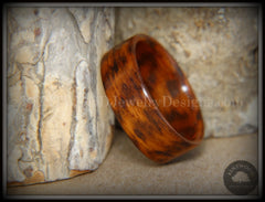 Bentwood Ring - Snakewood Classic Wood Ring   ------------  ***  Limited Supply  *** - Bentwood Jewelry Designs - Custom Handcrafted Bentwood Wood Rings  - 1