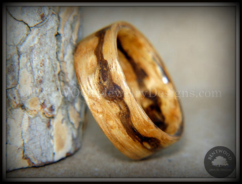 "Bentwood Ring - ""Wavy"" Zebrawood Classic Ring"