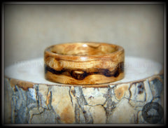 "Bentwood Ring - ""Wavy"" Zebrawood Classic Ring handcrafted bentwood wooden rings wood wedding ring engagement"