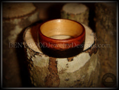 Bentwood Ring - Macassar Ebony Wood Ring (Striped) with Maple Liner using Bentwood Process handcrafted bentwood wooden rings wood wedding ring engagement