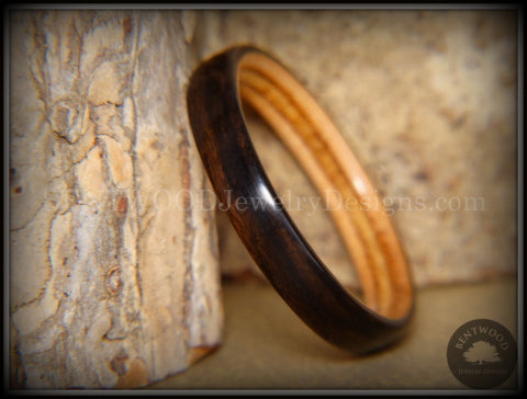 Bentwood Ring - Ebony on Birch Ply Core