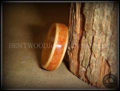 Bentwood Ring - Birch Wood Ring with Lake Superior Agate Inlay - Bentwood Jewelry Designs - Custom Handcrafted Bentwood Wood Rings  - 2