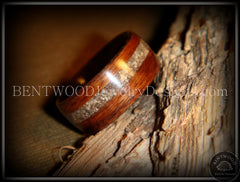 Bentwood Rings - Macassar Ebony Wood Ring with Dark Sand Inlay - Bentwood Jewelry Designs - Custom Handcrafted Bentwood Wood Rings  - 2
