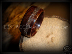 Bentwood Rings - Macassar Ebony Wood Ring with Dark Sand Inlay - Bentwood Jewelry Designs - Custom Handcrafted Bentwood Wood Rings  - 3