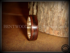 Bentwood Ring - Macassar Ebony Wood Ring with Wide Fine Silver Core - Bentwood Jewelry Designs - Custom Handcrafted Bentwood Wood Rings  - 2
