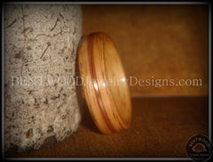 Bentwood Ring - Red Oak Wood Ring with Copper Inlay - Bentwood Jewelry Designs - Custom Handcrafted Bentwood Wood Rings  - 4