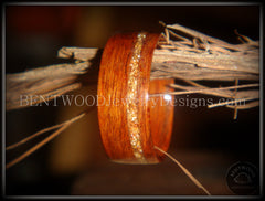 Bentwood Rings - Rosewood Wooden Ring with German Copper and Gold Glass Inlay - Bentwood Jewelry Designs - Custom Handcrafted Bentwood Wood Rings  - 3