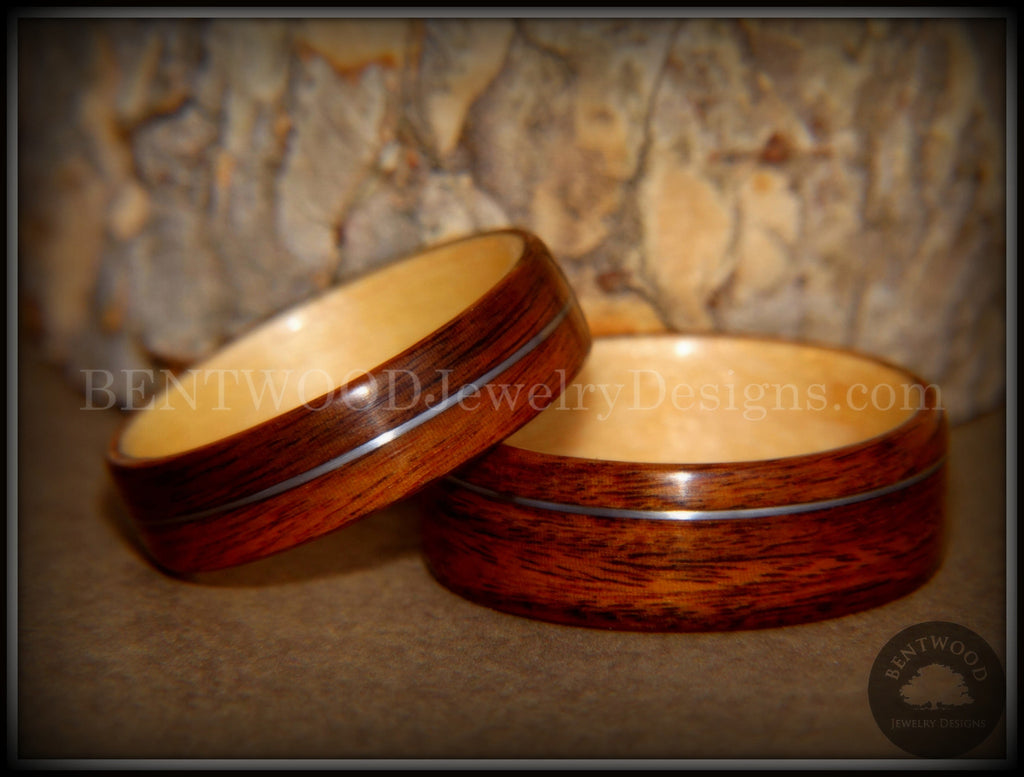 Bentwood Rings Set - S. American Rosewood and N. American Maple with ...