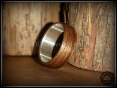Bentwood Ring - American Walnut Wood Ring with Wide Fine Silver Core - Bentwood Jewelry Designs - Custom Handcrafted Bentwood Wood Rings  - 3