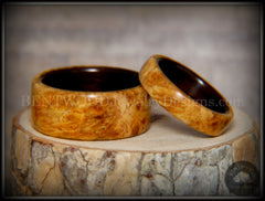Bentwood Rings Amboyna Burl Ebony Wood Rings