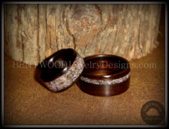 Bentwood rings Macassar ebony charoite inlay handcrafted wooden rings