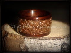Bentwood Ring - Macassar Ebony Wood Ring with Bronze Glass Inlay - Bentwood Jewelry Designs - Custom Handcrafted Bentwood Wood Rings  - 3
