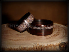 Bentwood Rings Set Macassar Ebony Wood Rings with Charoite Inlay - Bentwood Jewelry Designs - Custom Handcrafted Bentwood Wood Rings - 4