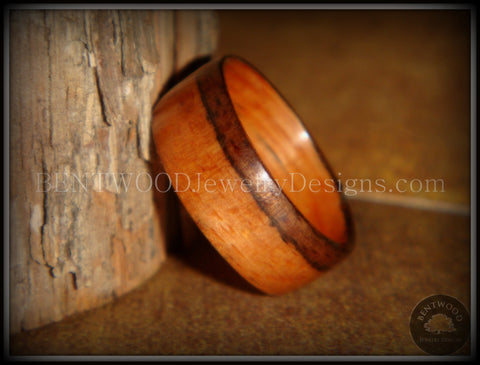 Bentwood Ring - Pau Ferro Wood - Santos Rosewood / Bolivian Rosewood Wooden Ring Classic Style
