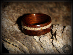 Bentwood Rings - Rosewood Ring with Hawaiian Beach Sand Inlay - Bentwood Jewelry Designs - Custom Handcrafted Bentwood Wood Rings  - 4
