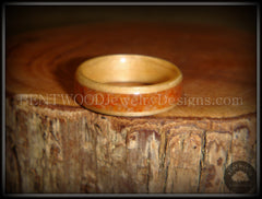 Bentwood Ring - Birch Wood Ring with Lake Superior Agate Inlay - Bentwood Jewelry Designs - Custom Handcrafted Bentwood Wood Rings  - 4