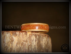 Bentwood Ring - Birch Wood Ring with Lake Superior Agate Inlay - Bentwood Jewelry Designs - Custom Handcrafted Bentwood Wood Rings  - 5