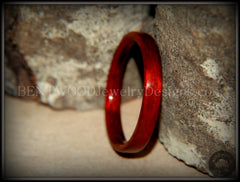 Bentwood Ring - Bloodwood Wooden Ring - Bentwood Jewelry Designs - Custom Handcrafted Bentwood Wood Rings