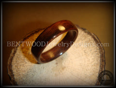 Bentwood Ring - Indian Rosewood Wood Ring - Bentwood Jewelry Designs - Custom Handcrafted Bentwood Wood Rings  - 2