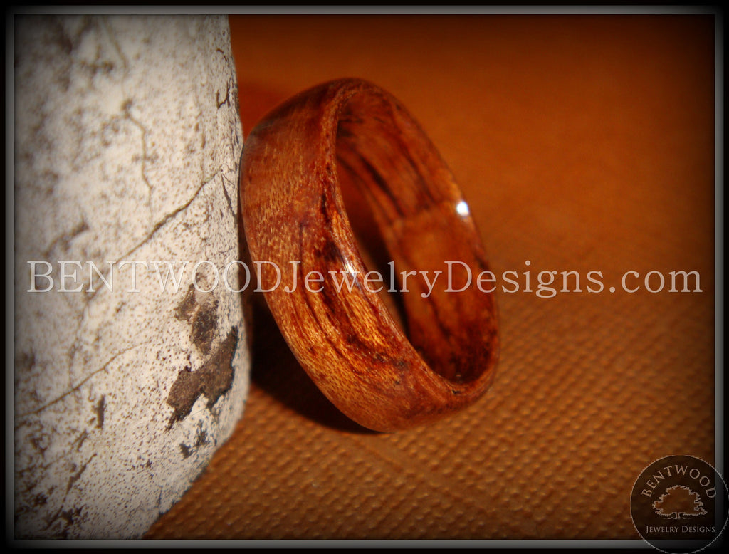 Bentwood Ring - Bubinga Wood Ring - Bentwood Jewelry Designs - Custom Handcrafted Bentwood Wood Rings  - 1