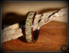 Bentwood Ring - Macassar Ebony Wood Ring with Canadian Beach Sand Inlay - Bentwood Jewelry Designs - Custom Handcrafted Bentwood Wood Rings  - 4