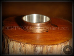 Bentwood Ring - American Walnut Wood Ring with Wide Fine Silver Core - Bentwood Jewelry Designs - Custom Handcrafted Bentwood Wood Rings  - 4