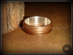 Bentwood Ring - American Walnut Wood Ring with Wide Fine Silver Core - Bentwood Jewelry Designs - Custom Handcrafted Bentwood Wood Rings  - 2