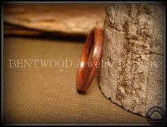 Bentwood Ring - Santos Rosewood Wood Ring Jewelry - Bentwood Jewelry Designs - Custom Handcrafted Bentwood Wood Rings  - 2