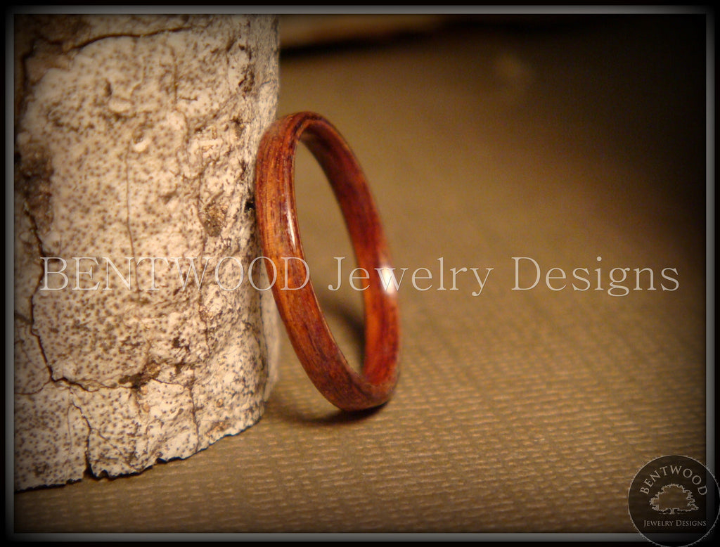 Bentwood Ring - Santos Rosewood Wood Ring Jewelry - Bentwood Jewelry Designs - Custom Handcrafted Bentwood Wood Rings  - 1