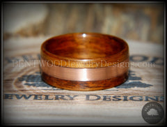Bentwood Ring - Rosewood with Wide Copper Inlay - Bentwood Jewelry Designs - Custom Handcrafted Bentwood Wood Rings  - 3