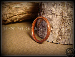 Bentwood Ring - Santos Rosewood Wood Ring Jewelry - Bentwood Jewelry Designs - Custom Handcrafted Bentwood Wood Rings  - 4