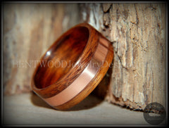 Bentwood Ring - Rosewood with Wide Copper Inlay - Bentwood Jewelry Designs - Custom Handcrafted Bentwood Wood Rings  - 2