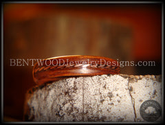 Bentwood Ring - Rosewood Ring with Twisted Copper Inlay - Bentwood Jewelry Designs - Custom Handcrafted Bentwood Wood Rings  - 2