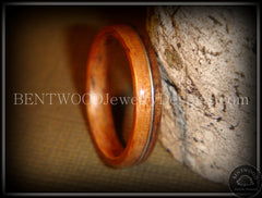 Bentwood Ring - Santos Rosewood Wood Ring with Silver Wire Inlay - Bentwood Jewelry Designs - Custom Handcrafted Bentwood Wood Rings