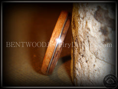 Bentwood Ring - Santos Rosewood Wood Ring with Silver Wire Inlay handcrafted bentwood wooden rings wood wedding ring engagement