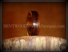 Bentwood Ring - Macassar Ebony Wood Ring with Wide Fine Silver Core handcrafted bentwood wooden rings wood wedding ring engagement