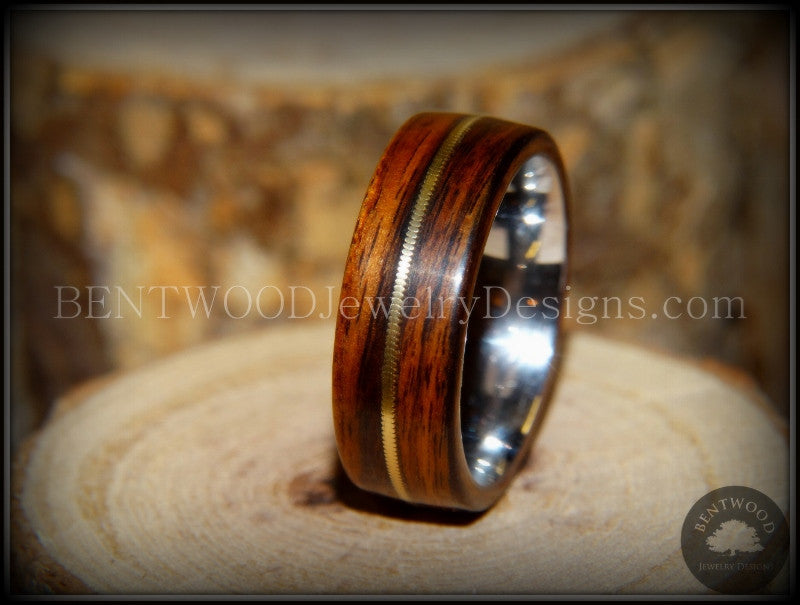 custom santos wedding ring bentwood turquoise wooden with handcrafted pin inlay rings made and pretty offset rosewood wood