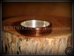 Bentwood Ring - Macassar Ebony Wood Ring with Wide Fine Silver Core - Bentwood Jewelry Designs - Custom Handcrafted Bentwood Wood Rings