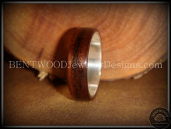 Bentwood Ring - Macassar Ebony Wood Ring with Wide Fine Silver Core - Bentwood Jewelry Designs - Custom Handcrafted Bentwood Wood Rings  - 4