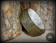 "Bentwood Ring - ""Metamorphic"" Quartzite Stone Antler Core handcrafted bentwood wooden rings wood wedding ring engagement"