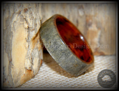 "Bentwood Ring -  ""Slate"" Stone & Snakewood handcrafted bentwood wooden rings wood wedding ring engagement"