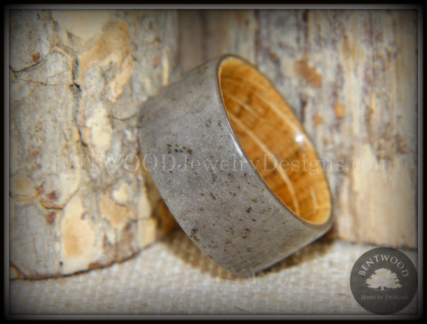 "Bentwood Ring -  ""Quarry"" Stone & Whiskey Barrel Oak"