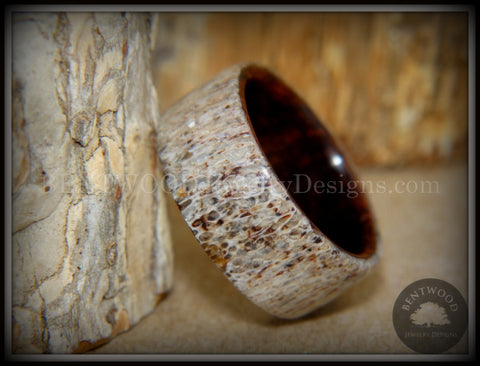 "Bentwood Ring - ""The Hunter"" Antler on Snakewood"