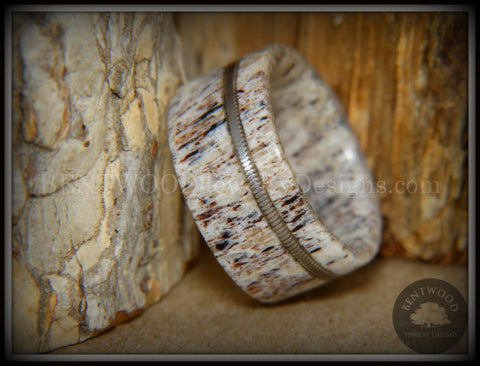 "Bentwood Ring - ""Nature's Melody"" Antler and Guitar String Inlay"