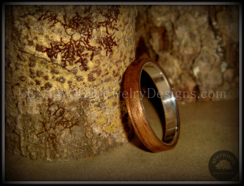 Bentwood Ring - American Walnut Wood Ring with Fine Silver Core
