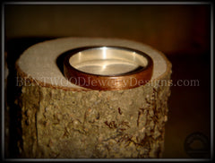 Bentwood Ring - American Walnut Wood Ring with Fine Silver Core - Bentwood Jewelry Designs - Custom Handcrafted Bentwood Wood Rings  - 2